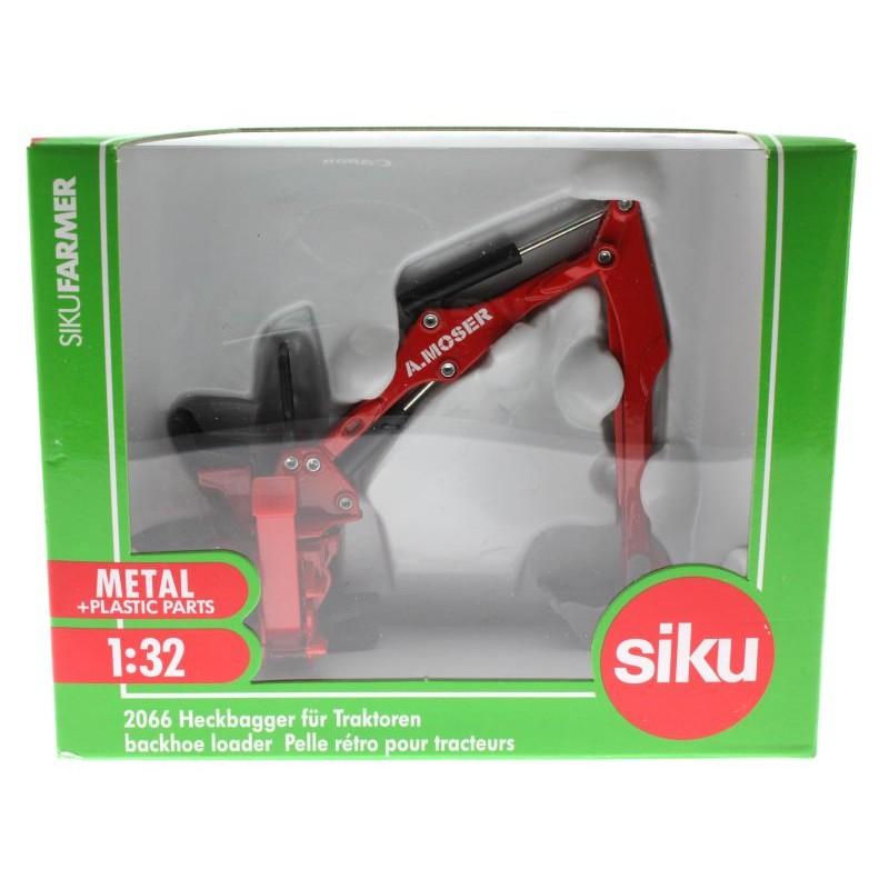 SIKU 2066 Moser Heckbagger für 1:32 Spielzeugautos