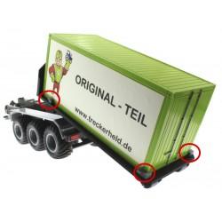 20 Fuss Container-Halter Set für Abroll-Plattform - Italeri (6516)