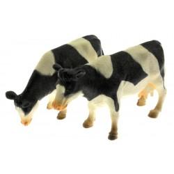 Zwei Rinder schwarz weiß stehend 1:32