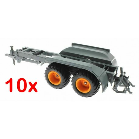 10x Fahrgestell von Siku 2270 Fasswagen