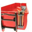 Schaufel und Besen Set für Siku Abrollmulde des Krampe Hakenlift Kipper Control 32