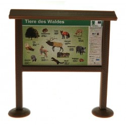 Informationstafel unser Tiere des Waldes 1:32