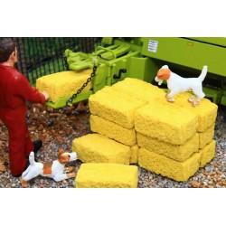 Strohballen Viereckig 1:32 Brushwood Toys 3053