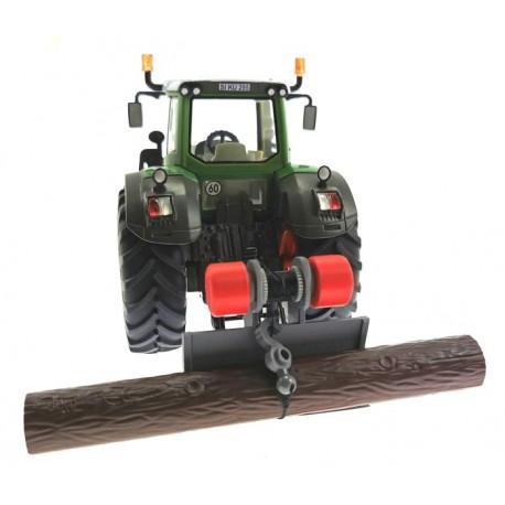 Forstschild Heck mit Seilwinde für Siku Traktoren 1:32
