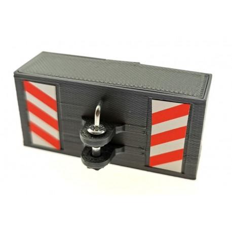 Frontgewicht Brick mit Bolzenkupplung für Siku Traktoren 1:32