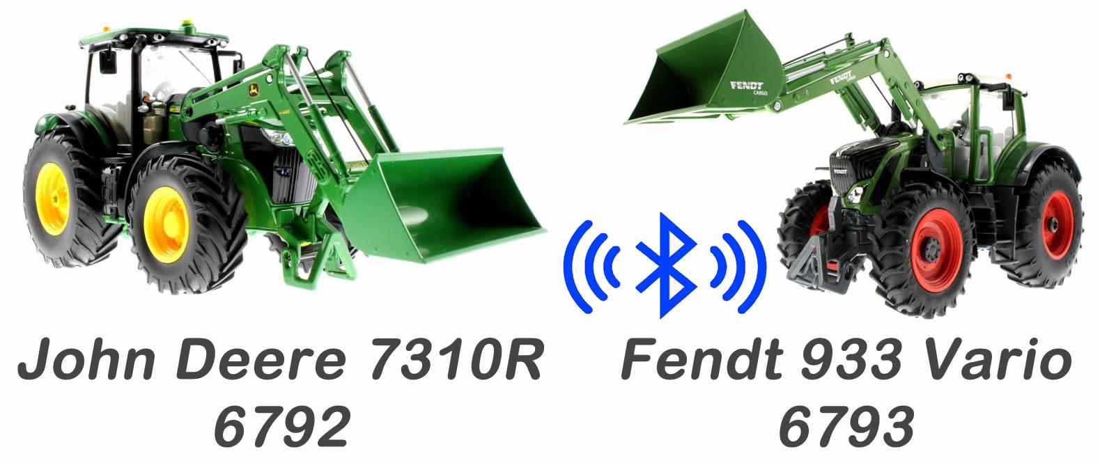 Siku 6793 - 6792 John Deere - Fendt 939 Vario mit Frontlader Bluetooth