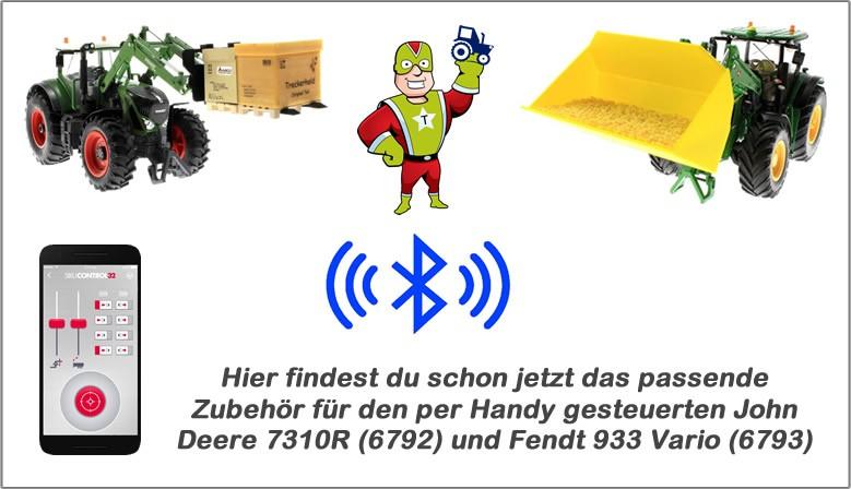 Hier findest du schon jetzt das passende Zubehör für den per Handy gesteuerten John Deere 7310R (6792) und Fendt 933 Vario (6793)