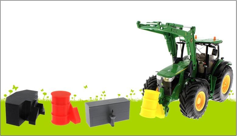 Treckerheld Frontgewichte für Siku Traktoren